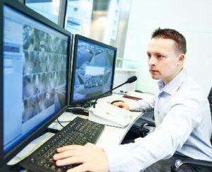 monitored security cameras